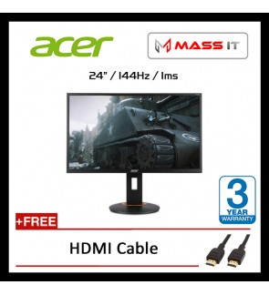 "ACER XF240H 24"" FreeSync 144hz 1ms FHD Gaming Monitor"