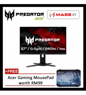 "ACER Predator XB272 27"" G-Sync 240hz 1ms FHD Gaming Monitor"