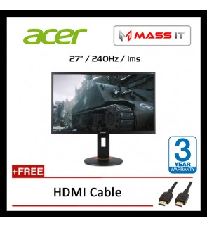"ACER XF270HA 27"" FreeSync 240hz 1ms FHD Gaming Monitor"