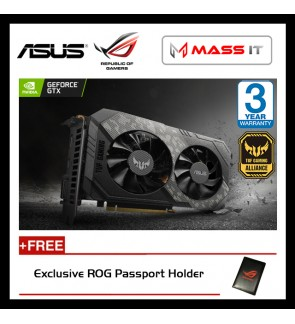 ASUS TUF Gaming GeForce GTX 1660 OC Edition 6GB GDDR6 Graphic Card (TUF-GTX1660-O6G-GAMING)