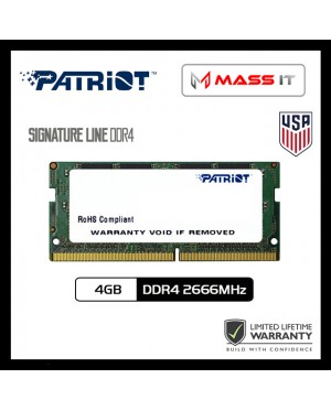 PATRIOT Signature Line SO-DIMM 4GB DDR4 2666MHz Laptop RAM Notebook RAM